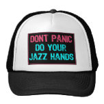 Don't Panic Sign- Do Your Jazz Hands Lt Blue/Pink Trucker Hat