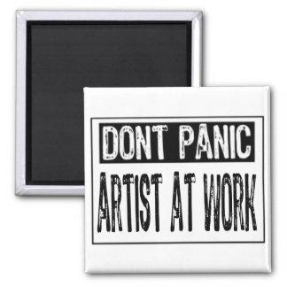 Don't Panic Sign- I'm A Artist - White/Black Magnet