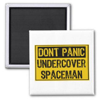 Don't Panic Sign- Spaceman Magnet