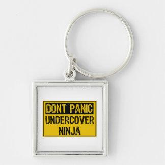 Dont Panic Sign - Undercover Ninja Keychain