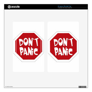 Don't Panic Skins For Kindle Fire