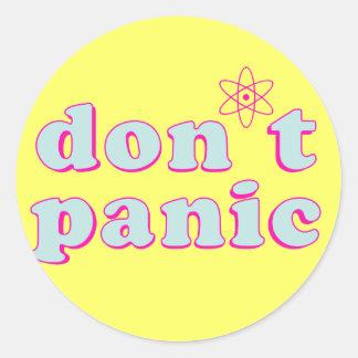 Don't Panic Classic Round Sticker