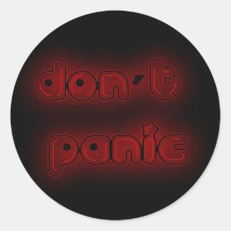 DON'T PANIC ROUND STICKER