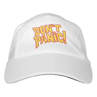 Don't panic text slogan hat headsweats hat
