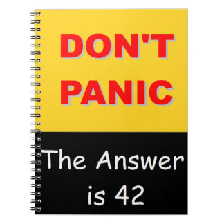 Don't Panic - The Answer is 42 Notebook