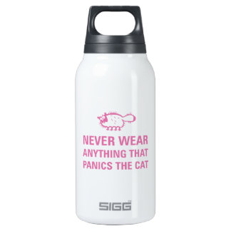 Don't panic the cat insulated water bottle