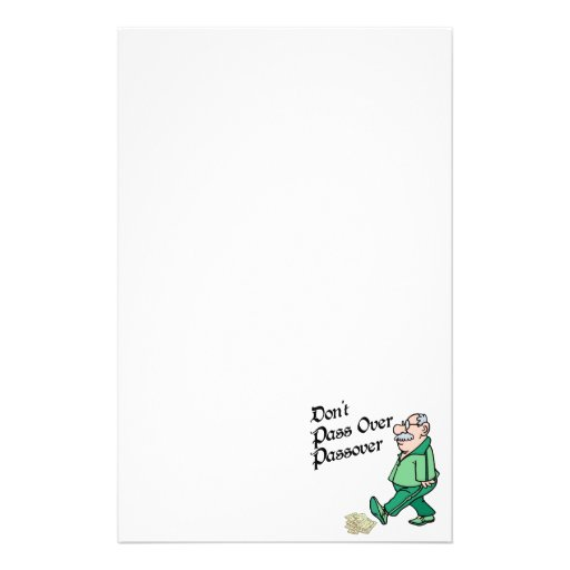 Don't Pass Over Passover Personalized Stationery