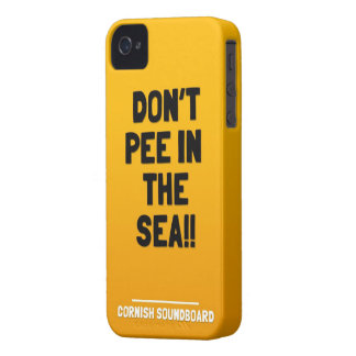Don't Pee in the Sea! A Cornish Soundboard Product iPhone 4 Cover