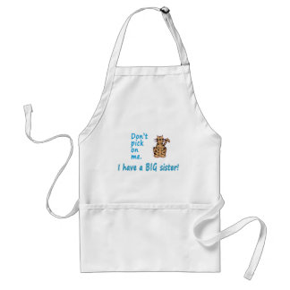 Don't Pick Little Brother Tigress Adult Apron