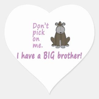 Don't Pick Little Sister Gorilla Stickers