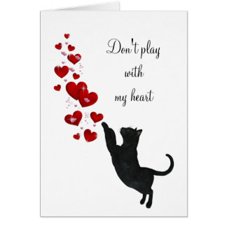 Don't play with my heart card