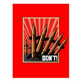 DON'T! Please No More War Postcard