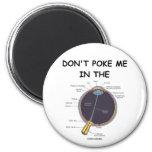 Don't Poke Me In The Eye (Eye Anatomy Attitude) Refrigerator Magnet