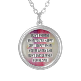 Don't Promise...Silver Plated Pendant Necklace