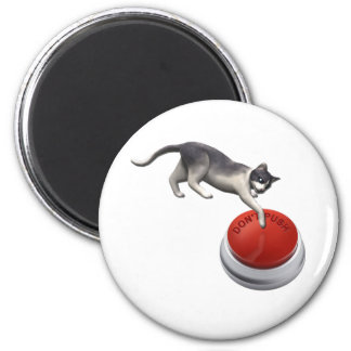 Don't Push Kitty 2 Inch Round Magnet