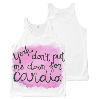 Don't Put Me Down For Cardio Unisex Tank