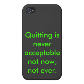 Don't quit... EVER iPhone 4/4S Cover