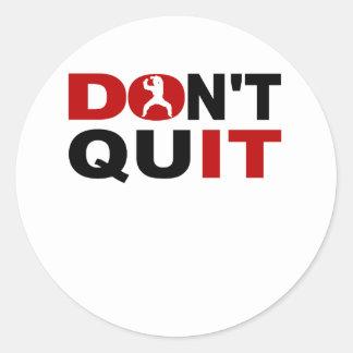 Don't Quit Karate Classic Round Sticker