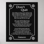 Don't Quit Poem -- 8 x 10 print