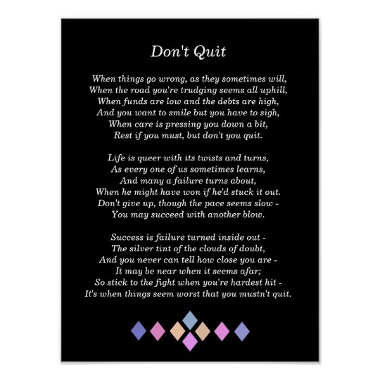 Image result for don't you quit poem