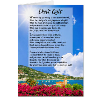 Don't Quit Poem Greeting Card