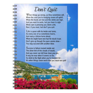 Don't Quit Poem Notebook