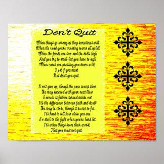 Don't Quit poem Posters