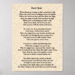 Don't Quit poem - poster