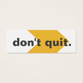 Don't Quit Random Acts Kindness Challenge Card
