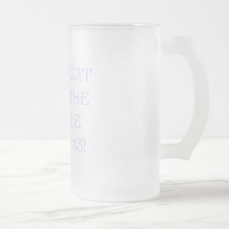 Don't Quit Until The Miracle Happens Frosted Glass Beer Mug