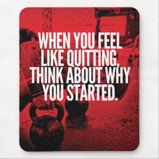 Don't Quit - Workout Motivational Mouse Pad