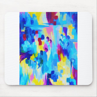 DONT QUOTE ME, Revisited - Bold Colorful Blue Pink Mouse Pad