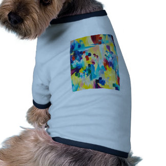 DONT QUOTE ME Whimsical Rainbow Ikat Chevron Abstr Pet Clothing