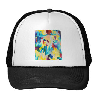 DONT QUOTE ME Whimsical Rainbow Ikat Chevron Abstr Trucker Hat