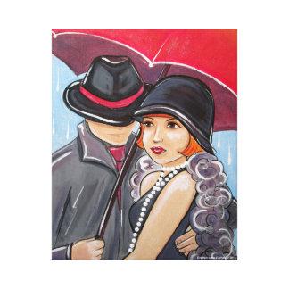 Don't Rain on My Parade - 1920s Flapper Canvas Print