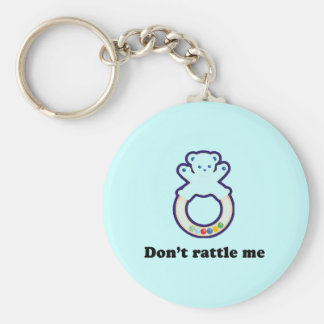 Dont rattle me basic round button keychain