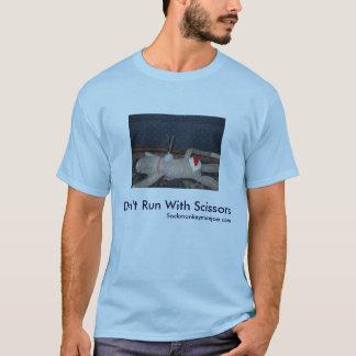 Don't Run With Scissors-Joe Sock Monkey T-Shirt