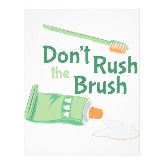 Dont Rush Brush Letterhead