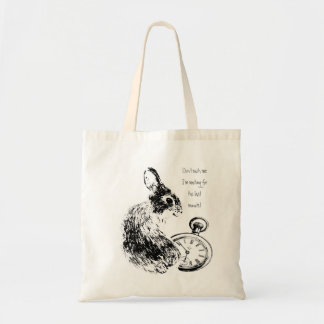 Don't Rush Me, Last Minute, Late Fun  Rabbit Tote Bag
