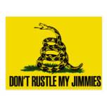 Dont rustle my jimmies postcard