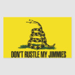 Dont rustle my jimmies rectangle sticker