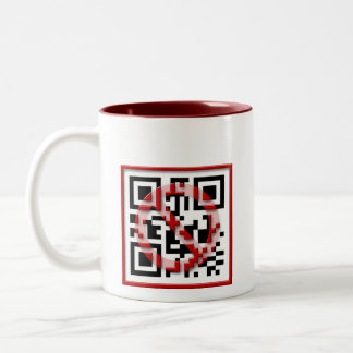 Don't scan me. coffee mug