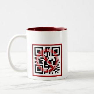 Don't scan me. Two-Tone coffee mug