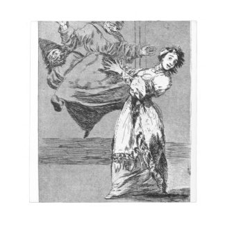 Don't scream, silly by Francisco Goya Notepad