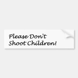 Dont Shoot Bumper Sticker