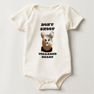 Don't shoot collared bears baby bodysuit