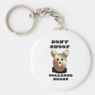 Don't shoot collared bears keychain