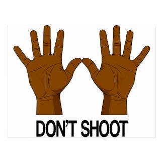 Don't Shoot Postcard