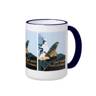 Don't Shoot Protected Hawks Coffee Mugs