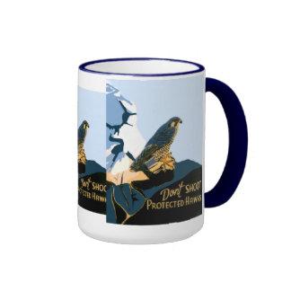 Don't Shoot Protected Hawks Mugs